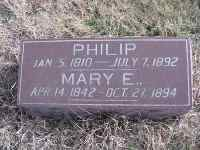 Philip and Mary Harsh Footstone