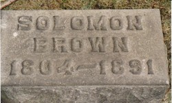 Solomon Brown Tombstone