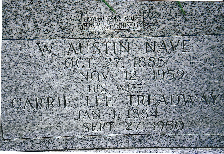 William Austin and Carrie Lee Nave Tombstone