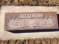Walter Moroni and Enid Rollins Fernelius Tombstone