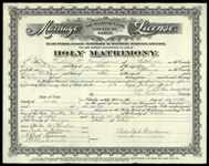 Walter M. Fernelius and Enid Rollins Marriage Record