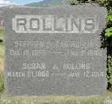 Steuben Oscar and Susan Whitaker Rollins Tombstone