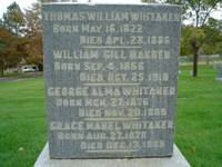 Thomas William Whitaker Tombstone