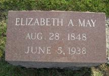 Elizabeth Ann Ravenscroft May Tombstone