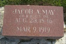 Jacob Andrew May Tombstone