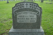 Anthony and Mary Corcoran Solon Tombstone