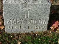 Mary Graham Solon Tombstone