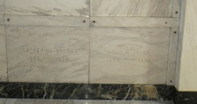 Catherine Solon and John William Solon Tombstones