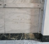 John William Solon Tombstone