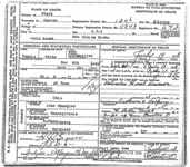 Elvira E. Spangler Brown Death Certificate