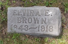 Elvira E. Spangler Brown Footstone