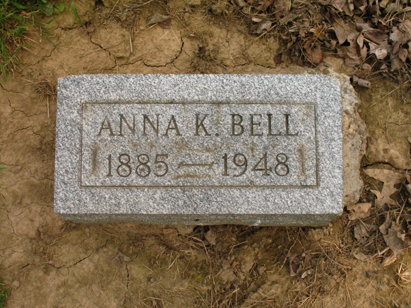 Anna M. Kope Bell Tombstone