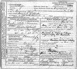 Carrie A. Beery Hazel Witherell Death Certificate