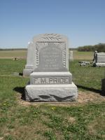 "Francis Marion ""Frank"" Price and Lavina Emmaline Donnell Price Tombstone"