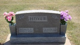 Clarence Patison Hoyer and Georgia Ethel Allen Hoyer Tombstone