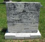 William Peek and Sarah Ellen Slagle Peek Tombstone