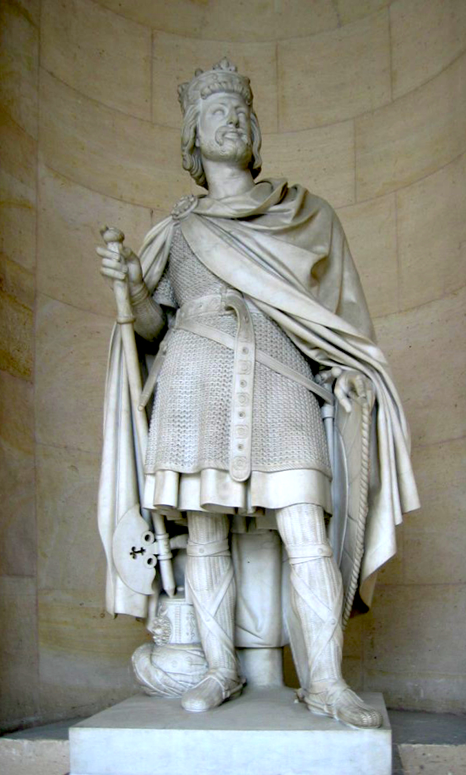 19th century sculpture of Charles Martel, Duke and Prince of the Franks, Mayor of the Palace, at the Palace of Versailles