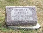 Sherman Lewis Blakeley Tombstone