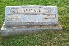 George and Effie Boyce Tombstone