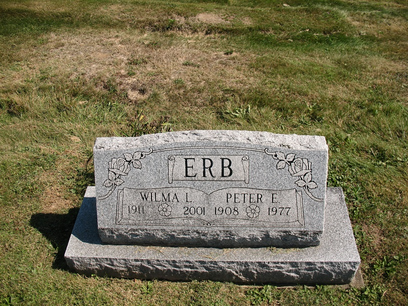 Peter and Wilma Erb Tombstone